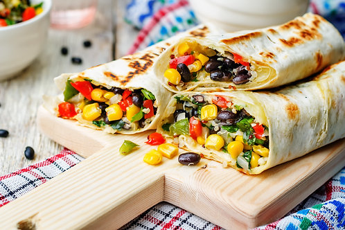 Mexican Burritos withVegan Sour Cream