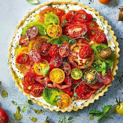 Tomato, Vegan Ricotta and Thyme Tart