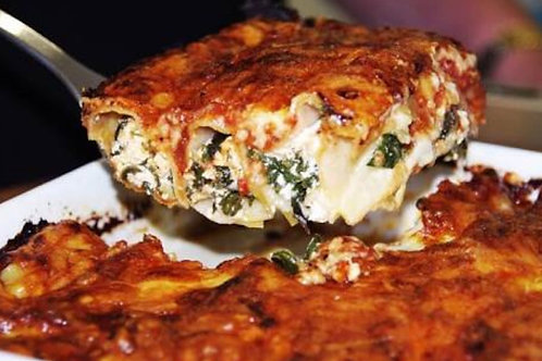 Spinach and Vegan Ricotta Cannelloni