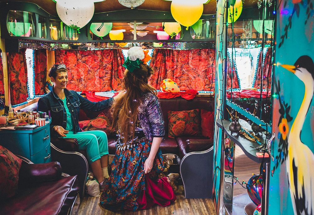 Mirela Caravan Glitter Parlour at Art Carbootique