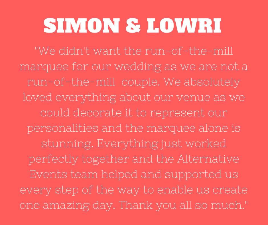 Simon and Lowri