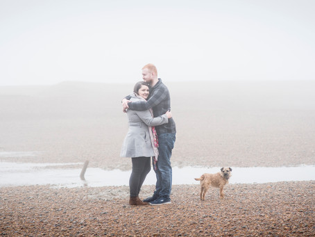 Emily and Mike's pre-shoot, Shingle Street