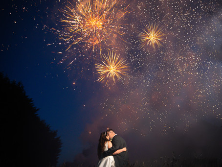Woodhall Wedding with Sparkles!