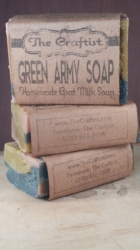 Green Army Soap Goat Milk Soap