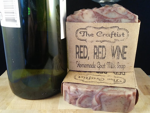 Red Red Wine Handmade Goat Milk Soap