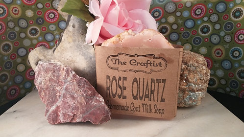 Rose Quartz Handmade Goat Milk Soap