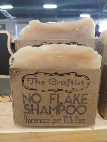 No Flake Handmade Goat Milk Shampoo Bar