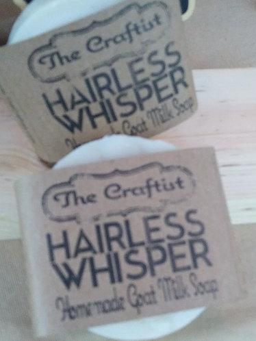 Hairless Whisper Handmade Goat Milk Shaving Soap