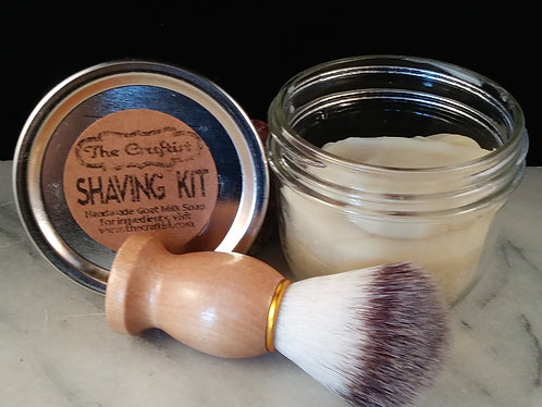 Shaving Kit with Goat Milk Soap