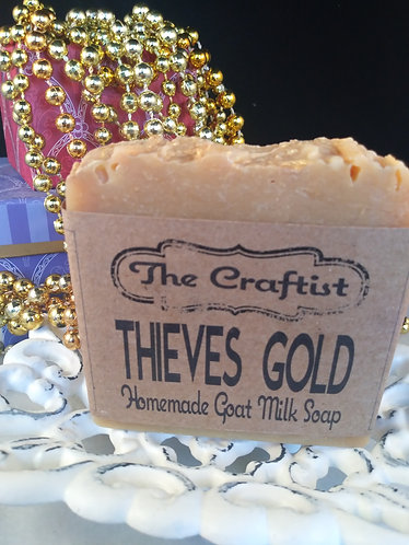 Thieves' Gold Handmade Goat Milk Soap