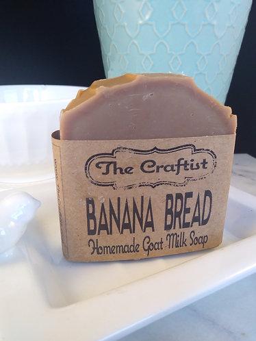 Banana Bread Handmade Goat Milk Soap