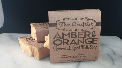 Amber & Orange Handmade Goat Milk Soap