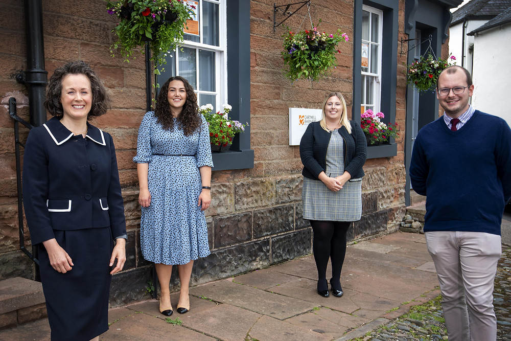From left: Deborah Flynn, Director and head of the Wills, Probate and Inheritance team at Cartmell Shepherd Solicitors, with Rebecca Adams, Kendra Winter and Matthew Rogers, of Cartmell Shepherd Solicitors' private client team, who have all achieved prestigious STEP Worldwide Excellence Awards in the last three years.