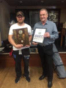 Dave Llewellyn with first Seamaster winn