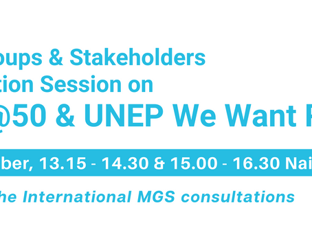 UNEP@50 civil society consultation - designing the future of environmental governance