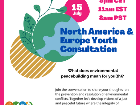 Environmental Peace-Building & Youth: Europe & North America Regional Consultation