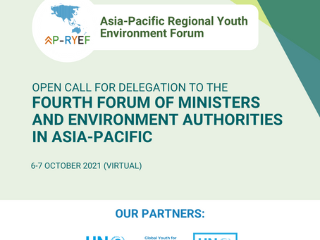 Open call for Delegation to Fourth Forum of Ministers and Environment Authorities in Asia-Pacific