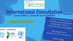Register NOW! International MGS consultations for UNEA 5.2, UNEP@50 and Stockholm+50 from 7-9 Sept