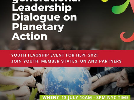 13 July: Inter-Generational Leadership Dialogue on Planetary Action - Member States, Youth & UN!!