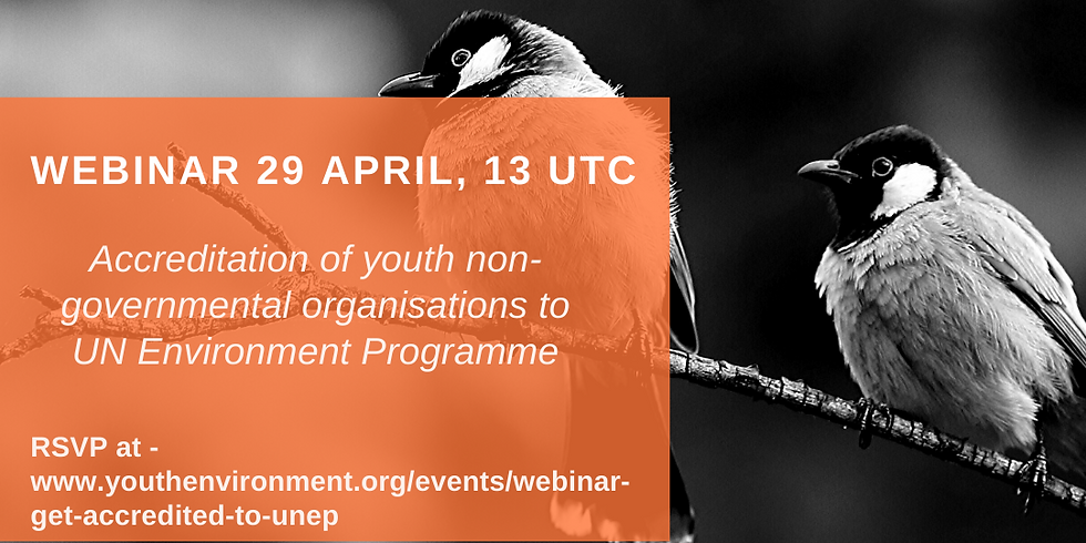 Webinar: Get accredited to UNEP