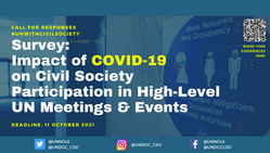 [from UNDGC]: Survey on the Impact of COVID-19 on Civil Society Participation in UN Meetings