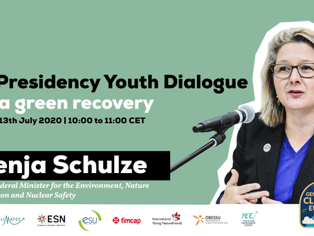 EU Presidency Youth Dialogue - For a Green Recovery | Register Now!