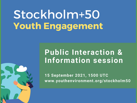 Register now! Public Briefing & Interaction Session on Stockholm+50 Youth Engagement