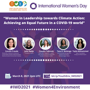 """IWD dialogue - """"Women in leadership: Achieving an equal future in a COVID-19 world"""""""
