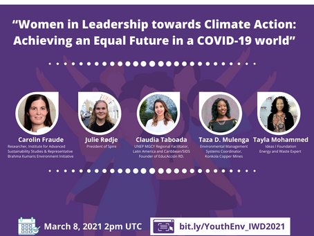 "IWD dialogue - ""Women in leadership: Achieving an equal future in a COVID-19 world"""