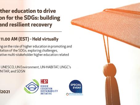 HESI Event & UNEP Sustainable University Framework Launch