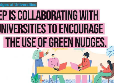 Call for student networks to join as implementing partners for UNEP Green Nudges program