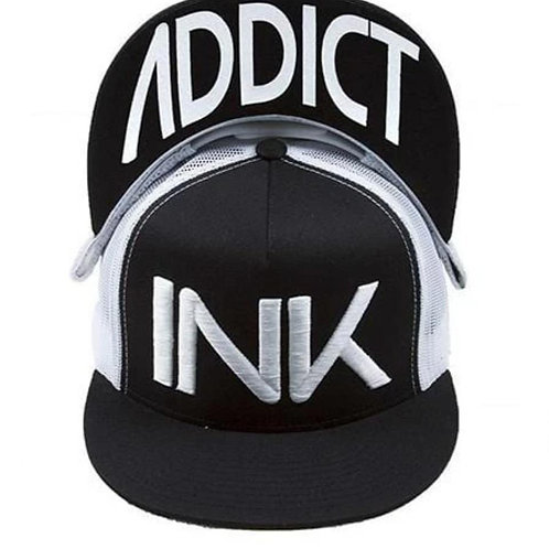 Ink Addict White on Black.