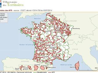 Les AFR : zonage 2014-2021 !