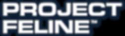 Project Feline Wordmark – Vertical (Whit