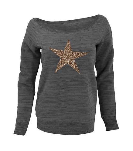 Star Slouchy Wide neck Sweatshirt