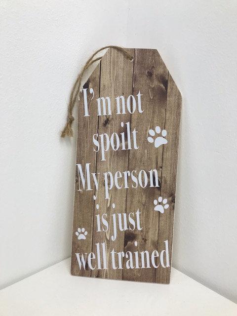 Wooden pet sign
