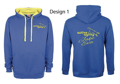 Active Agility Blue and Yellow Hoodie