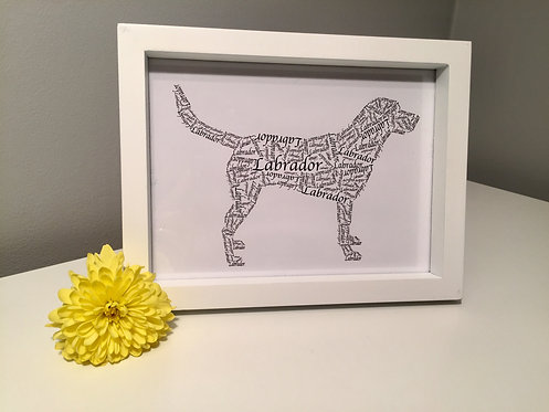 Labrador Word Art Print