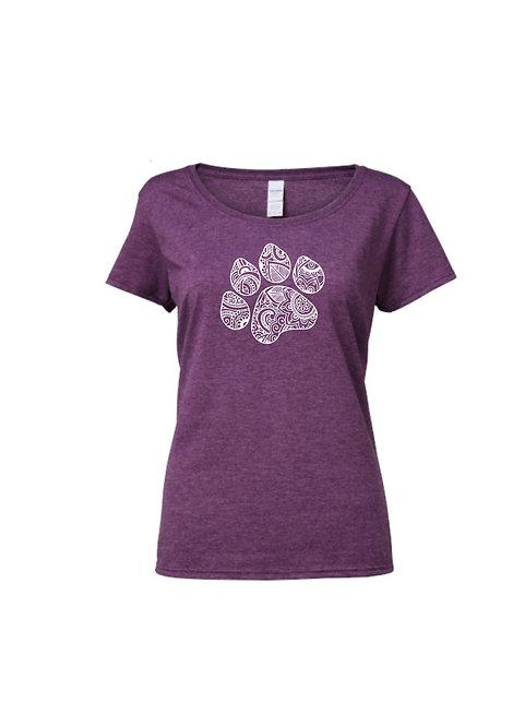Mandala Paw print T-shirt