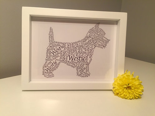 West Highland Terrier Word Art Print
