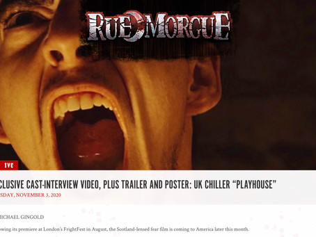 RUE MORGUE EXCLUSIVE: Cast interview for UK Chiller PLAYHOUSE