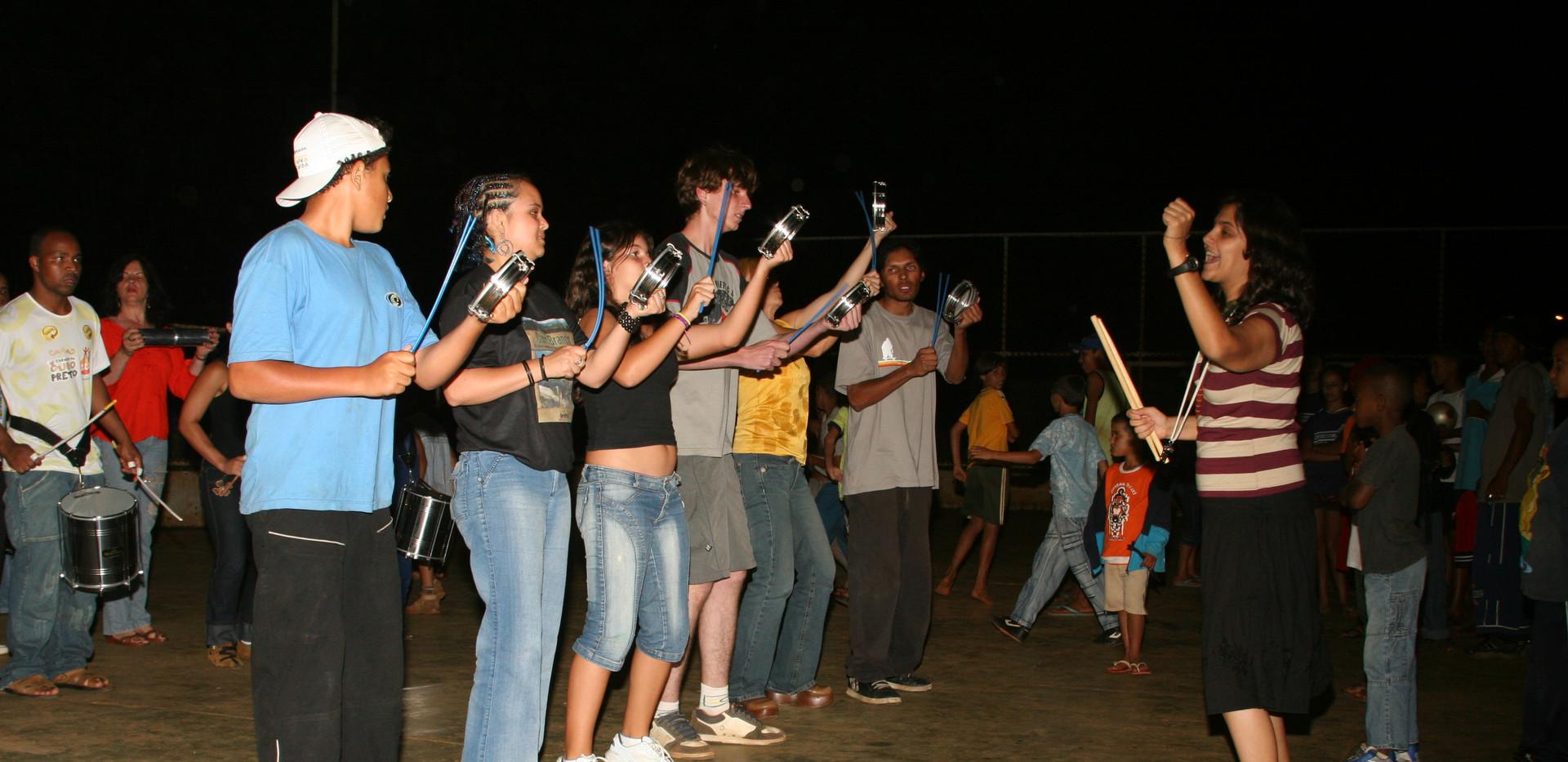 Groupe de percussion, Ouro Branco, 2007