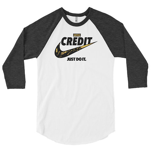 Good Credit | 3/4 sleeve raglan shirt