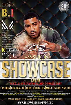 Rapper BWA Kane wil be streaming live at the G Salvatore Fashion Showcase