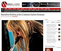 G Salvatore Fashion showcase Headliners news story on Marellina