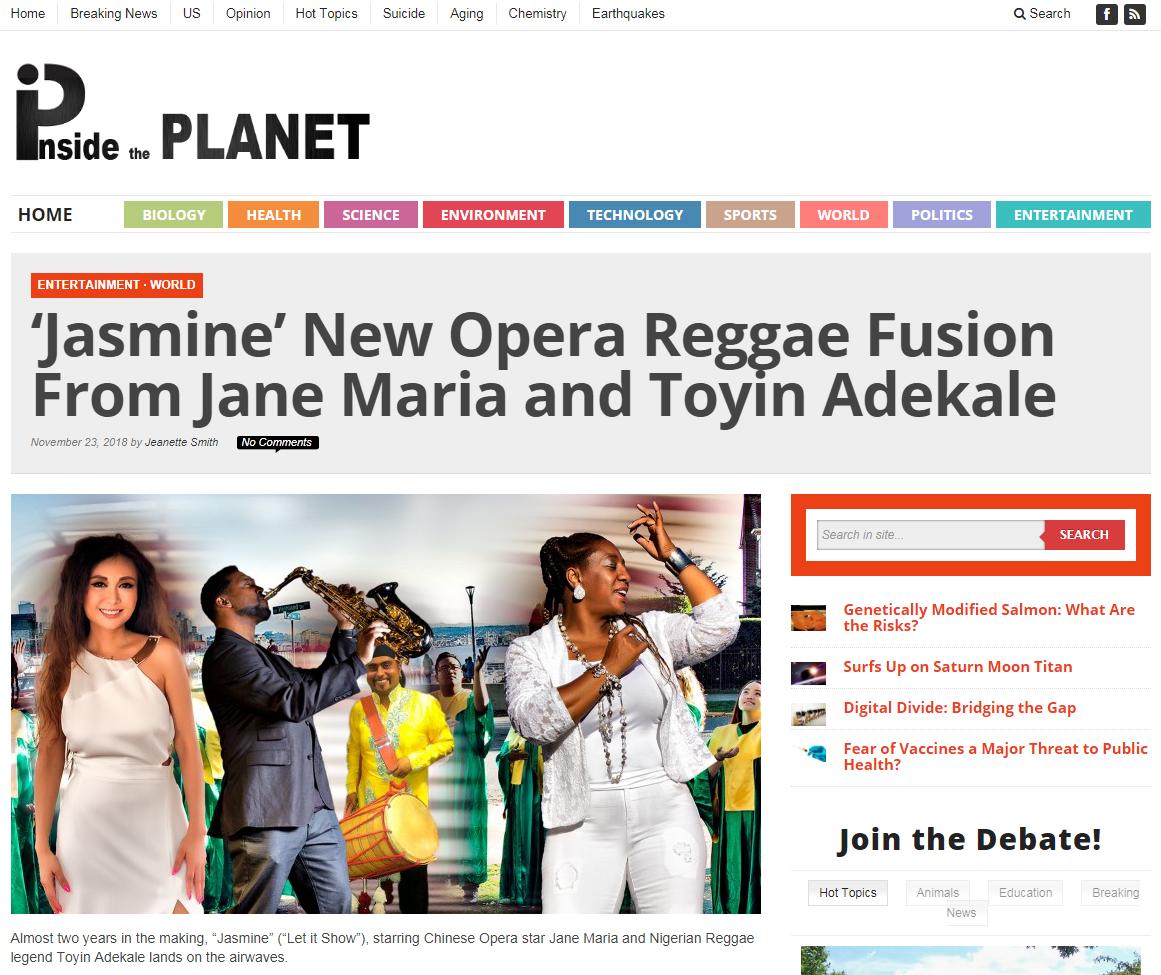 Jasmine - Inside Planet news story