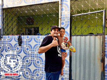 Evento de páscoa infantil na favela