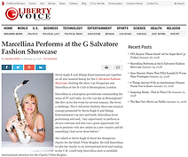 G Salvatore Fashion Showcase Marcellina article on Guardian Liberty Voice