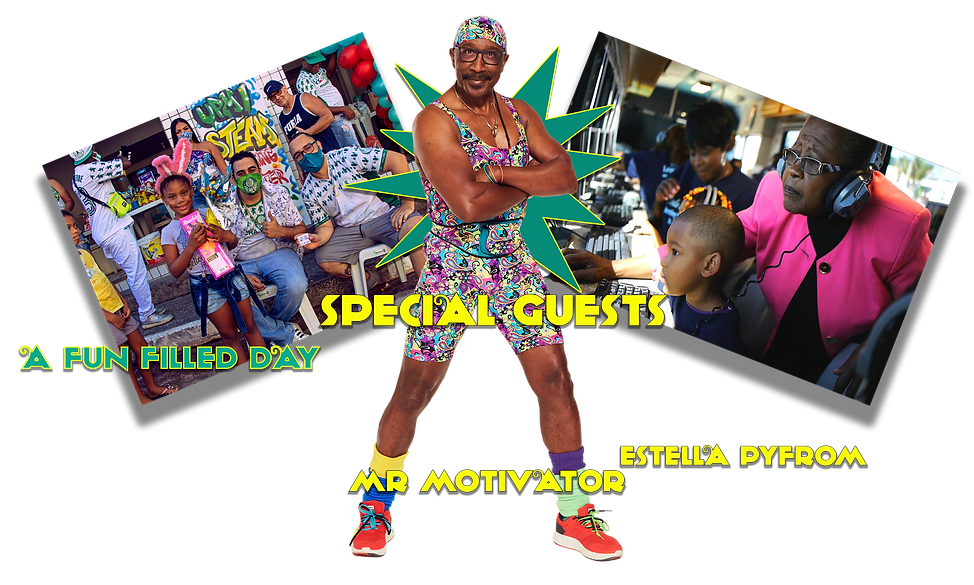 UPMI kid's day and phase 2 unveiling event featuring Mr Motivator