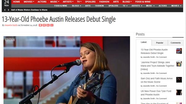 Phoebe Austin Headliners daily article nov 24th 2018